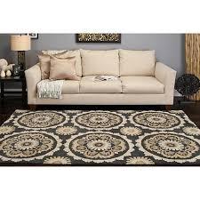 surya b smith mosaic 5 u0027 x 8 u0027 transitional area rug charcoal
