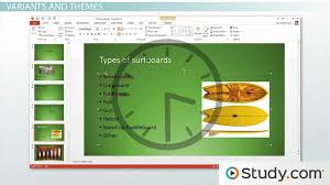 Formatting Your PowerPoint Presentation Using Slide Masters and     Study com