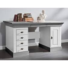 Schreibtisch Massiv Landhaus Schreibtisch Boulogne In Weiß Grau Pharao24 De