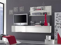 mensole laccate lucide parete attrezzata sospesa bianco lucido