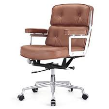 brown leather executive desk chair modern executive desk chairs allmodern