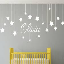 name custom stars and moon childrens wall art nursery baby decor name custom stars and moon childrens wall art nursery baby decor wall stickers kindergarten kids for bedroom child t170307 in wall stickers from home