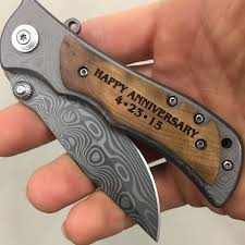 wedding gift knife anniversary gifts for men happy anniversary engraved pocket knife