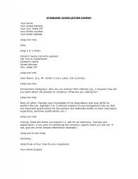 cover letter standard cover letters standard resume cover letters