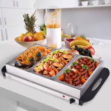 kenley 3 pan x 1 5l electric chafing dish buffet warming tray