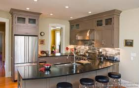 Transitional Kitchen Ideas - beautiful transitional kitchen design painting for home decorating