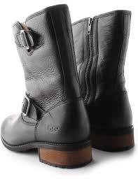 womens ugg biker boots ugg australia chaney leather s calf length boots