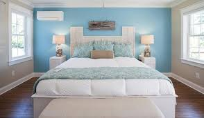 cool bedroom air conditioner mini blue wall color light grey wall