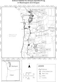Map Of Astoria Oregon by Federal Register Endangered And Threatened Wildlife And Plants