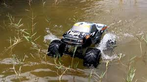 volts rc rc monster truck walks water