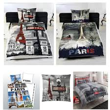 Space Single Duvet Cover Paris Bedding Single Duvet Cover Sets City Landmarks Eiffel Tower