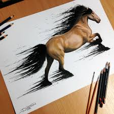 mustang horse drawing horse splatter drawing by atomiccircus on deviantart