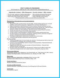 Accounting Assistant Resume Samples by Clerical Resume Templates Business Administration Resume Samples