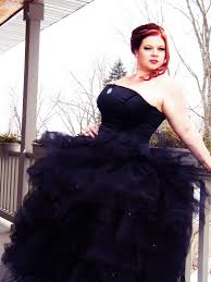 black bridal gown gothic ballgown alterantive wedding dress