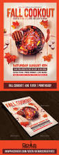 fall bbq cookout flyer by geniuscreatives graphicriver