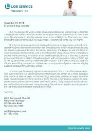 best ideas of example letter of recommendation for pharmacy