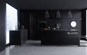 Multi Level Kitchen Island by Design Minimalsit Black Mate Contemporary Multi Level Kitchen