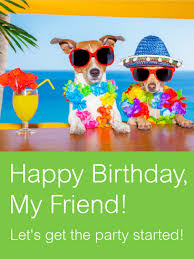two best party friends card no one throws a better birthday bash