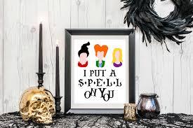 i put a spell on you halloween wall art print u2013 loveyoualatteshop
