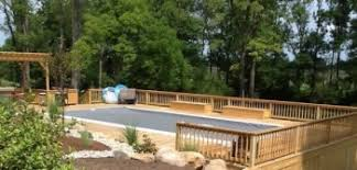 spring landscaping around your above ground pool