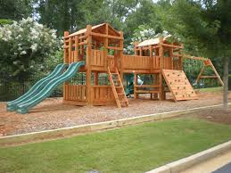 awesome playsets for small backyards images decoration ideas