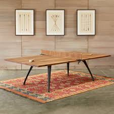 Handcrafted Wood Tables Classic Ping Pong Table Robert Redford U0027s Sundance Catalog