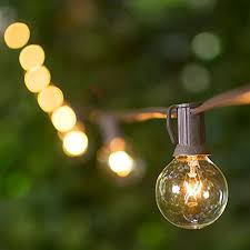 globe string lights brown wire globe string lights 15 inch e12 g40 bulbs 100 foot brown wire c7