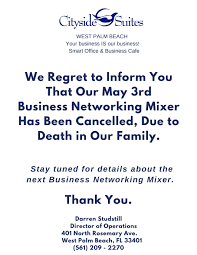 cancelled the progressive nw business association business mixer