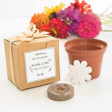 flower seed wedding favors bridal shower favor ideas plantable flower seed wedding party favors