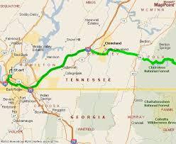 map of chattanooga tn carolina honeymoon cabin for rent driving