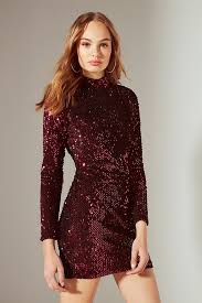 sequin dress motel ruby turtleneck sequin dress outfitters