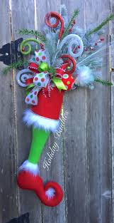 grinch stocking door hanger by holiday baubles trendy tree