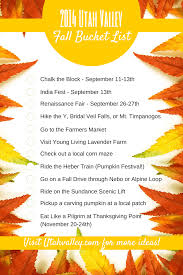 thanksgiving to do list visit utah valley 2014 utah valley fall bucket list
