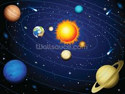 childrens wallpaper wall murals wallsauce colourful solar system wall mural wallpaper