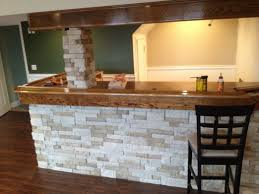 airstone backsplash exciting my homemade basement bar so far with