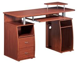 techni mobili double pedestal laminate computer desk chocolate amazon com complete computer workstation desk with storage color