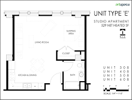 Studio Floor L Efficiency Apartment Floor Plans For Seniors Studio Plan Modern