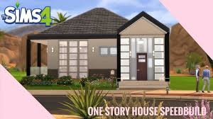 the sims 4 speedbuild one story house youtube