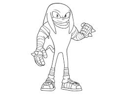 Knukles  Coloriages  Goodies  Sonic Boom  Dessins animés  La télé