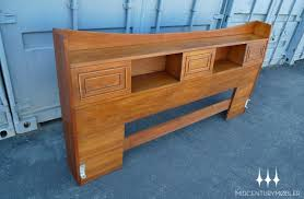 rare mid century modern king sized bookcase headboard from