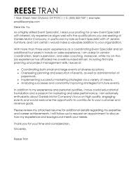 Salary Requirements Cover Letter Template Best Event Specialist Cover Letter Examples Livecareer