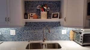 Blue Kitchen Backsplash Delightful White Grey Colors Kitchen Backsplash Glass Tile Mosaic