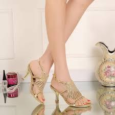 wedding shoes kitten heel gold rhinestones wedding shoes kitten heel crystals sandals 2016