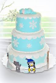 winter baby animal cake winter wonderland themed baby shower