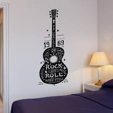 compare prices on guitar bedroom wall stickers online shopping dsu free shipping quality wall decals guitar rock and roll music hard retro hippies wall stickers