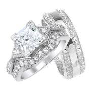 Sterling Silver Wedding Ring Sets by Sterling Silver Wedding Rings