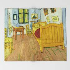 la chambre de gogh à arles bedroom in arles by vincent gogh throw blanket by