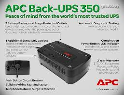 amazon com apc back ups 350va ups battery backup u0026 surge