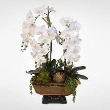 silk flower arrangements artificial orchid rose peony daisy