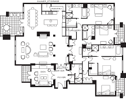 four bedroom four seasons four bedroom den residence floorplan whistler
